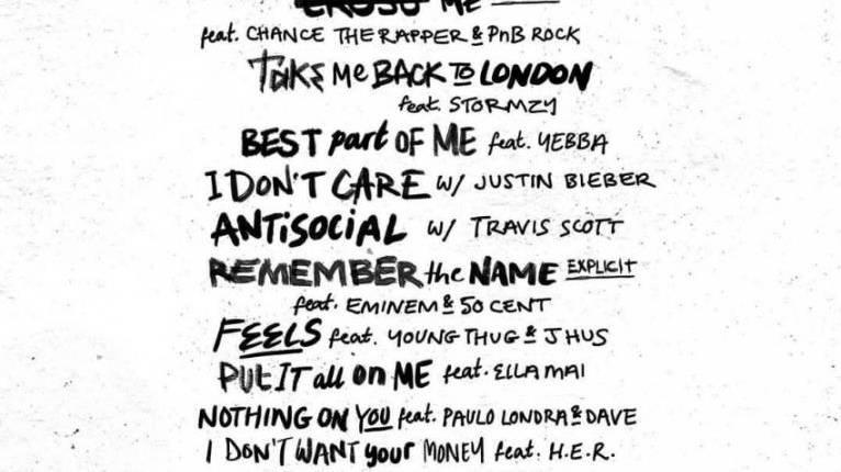 Ed Sheeran packt 22 Topacts auf ein Album