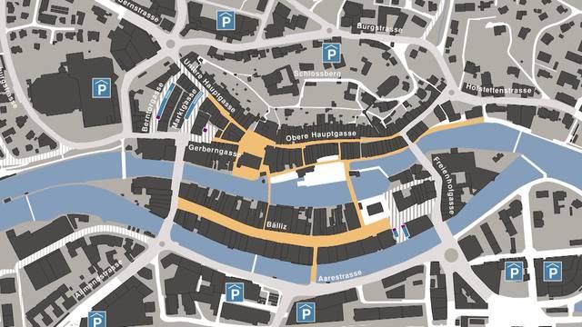 Kompromiss für Fussgängerzone in Thuner Innenstadt