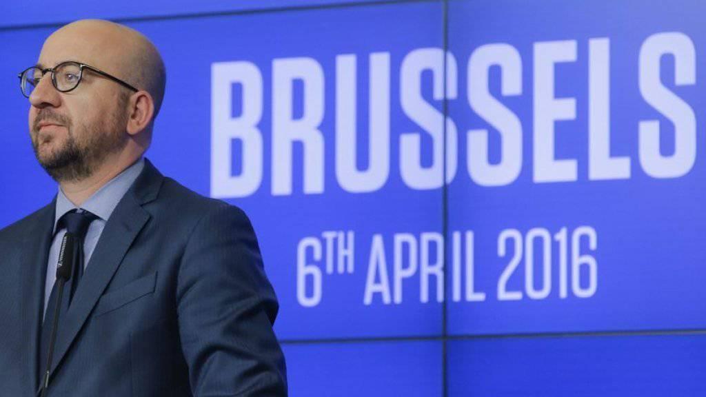 Sieht sein Land und die Hauptstadt auf gutem Weg zurück zur Normalität: Belgiens Ministerpräsident Charles Michel.