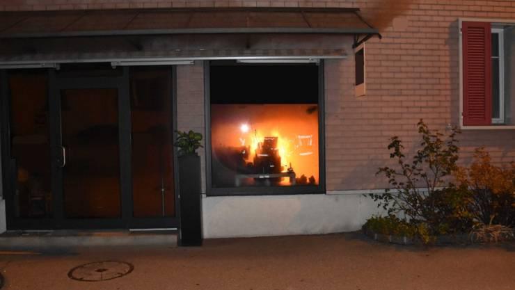 In Rorschach SG ist es am Samstag in einem Geschäft zu einem Brand gekommen.