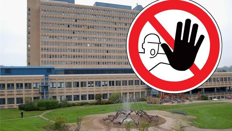 Das Kantonsspital ist ein offenes Haus – Asylbewerber dürfen es aber nicht betreten. Auch der Park ist für sie eine Tabuzone. (Archiv)
