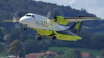Eine Dornier 328 im Dienste der in Bern beheimateten Airline Skywork.