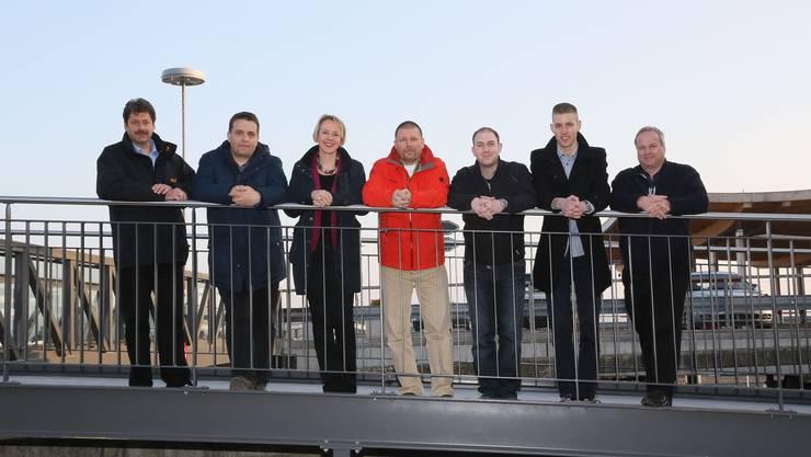 Daniel Hürlimann(bisher), Patrick Suter(bisher), Andrea Kronenberg(bisher), Andreas Oester, Benjamin Sigirst, Gregor Bachmann und Adrian Marti(Bisher)