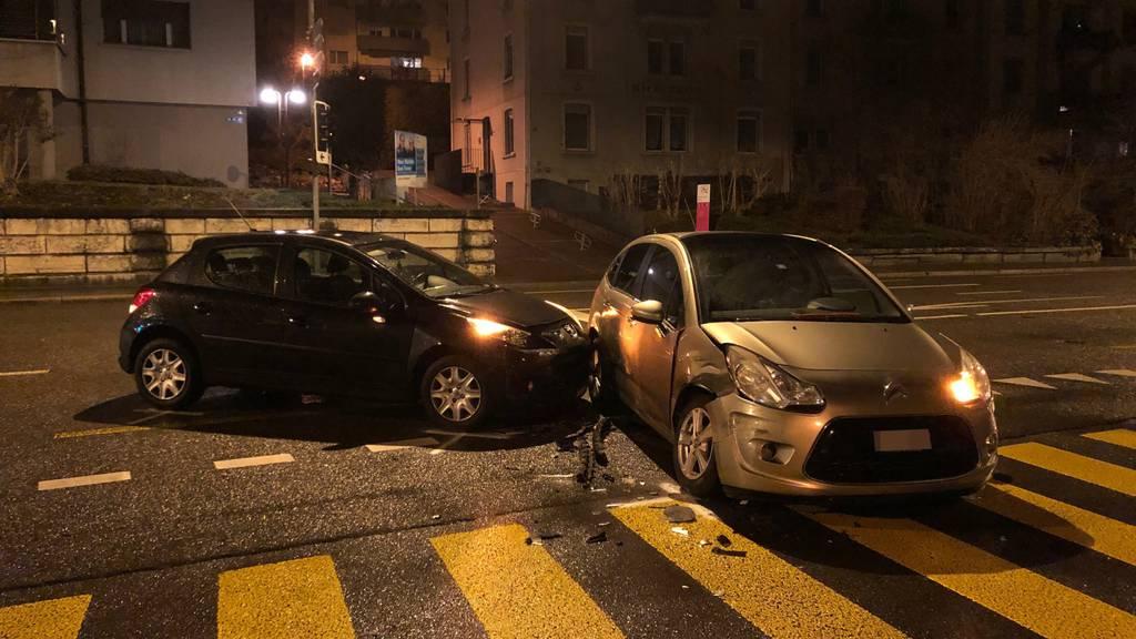 Sachschaden bei Unfall in St.Gallen