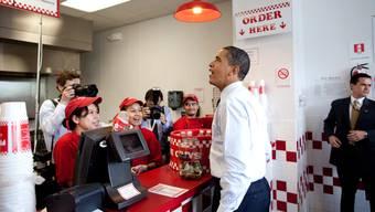 Ex-Präsident Barack Obama bestellte 2009 gleich für sein ganzes Team und steigerte so die Bekanntheit von «Five Guys». HO