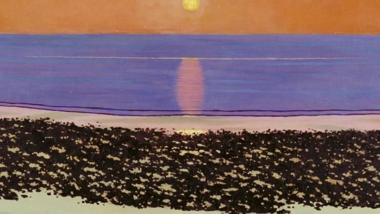 """Das Bild """"Coucher de soleil, Villerville"""" (1917) von Félix Vallotton ist Teil der Ausstellung """"Visionäre Sachlichkeit"""" im Kunsthaus Zürich. Sie dauert vom 9. März bis 8. Juli 2018."""