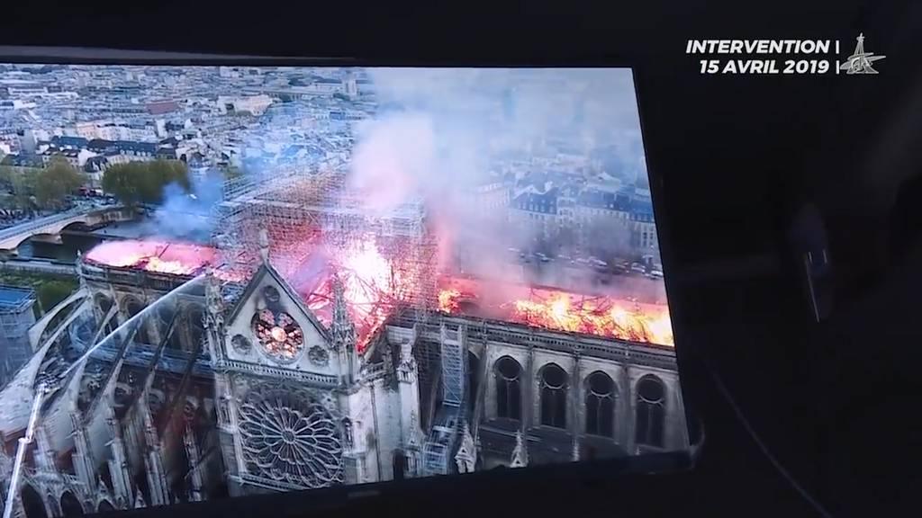 Notre-Dame: So kämpfte die Feuerwehr gegen die Flammen