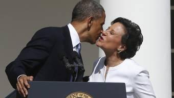 US-Präsident Barack Obama mit Milliardärin Penny Pritzker