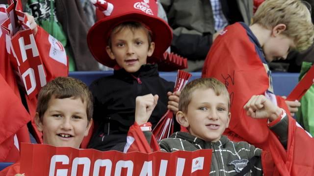 Der Verein Fanarbeit setzt sich auch für die Kleinsten ein, damit sie an jedem Fussballspiel gefahrlos mitfiebern können.
