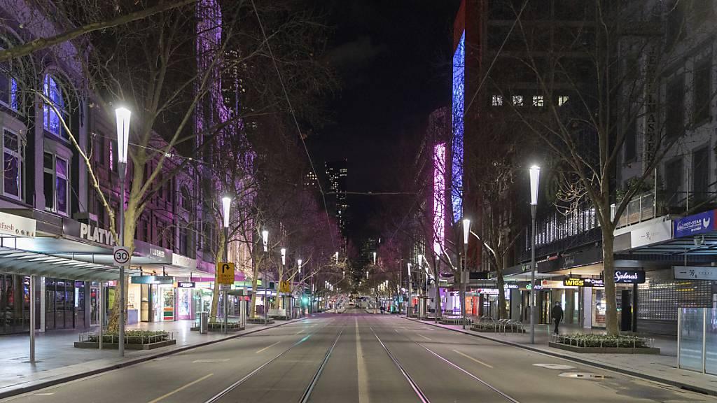 Melbourne wegen neuer Corona-Fälle zurück im strikten Lockdown