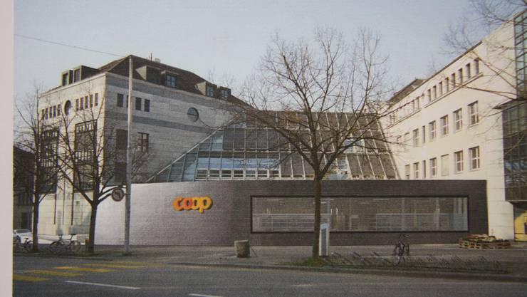 So wird sich der Coop Westring nach dem Umbau von der Westringstrasse aus präsentieren