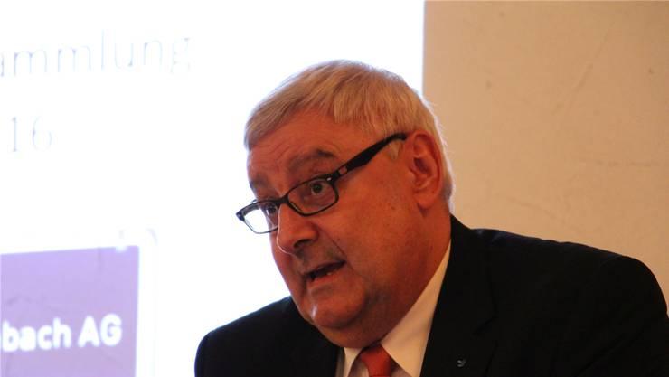 Martin Widmer an der Versammlung.