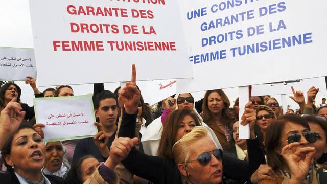 Demonstration in Tunis für gleiche Rechte für Frauen im November 2011 (Symbolbild)
