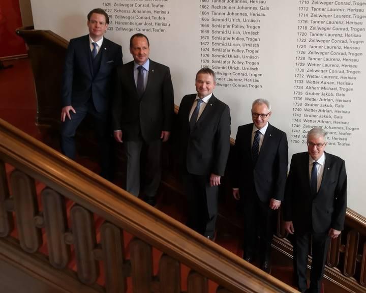 Der neu gewählte Regierungsrat des Kantons Ausserrhoden. (Bild:PD)