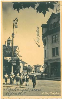 Dieser Kartengruss vom Wohler Postplatz wurde 1903 an Gemeindeschreiber Wüst in Zell LU geschickt.