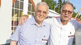 Hans Rudolf Gysin (l), der Konstrukteur der Wirtschaftskammer, mit seinem langjährigen Präsidenten Andreas Schneider.