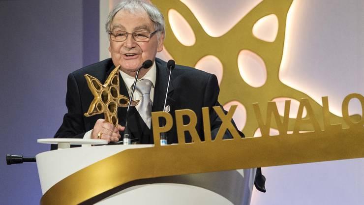 Jörg Schneider wird mit dem Prix Walo ausgezeichnet (18. Mai 2014)