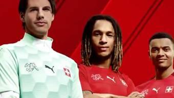 Das neue Trikot der Schweizer Nationalmannschaft.