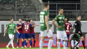 Basler Freude und St. Galler Frust: Der FC Basel wirft St. Gallen im Titelkampf wohl entscheidend zurück