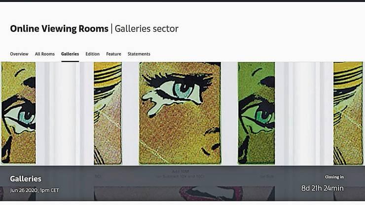 Ob die Tränen auf der Startseite symbolisch gemeint sind? Fotoarbeit (38 000 $) von Anne Collier bei Anton Kern Gallery.