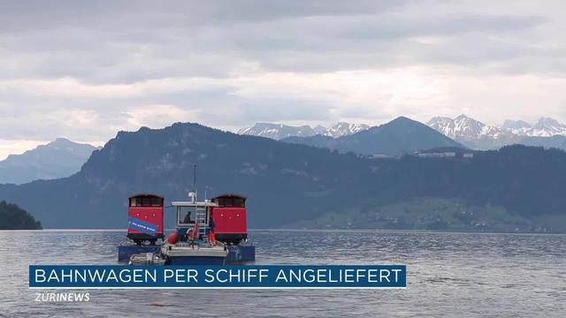 Bürgenstock-Bahn per Schiff angeliefert