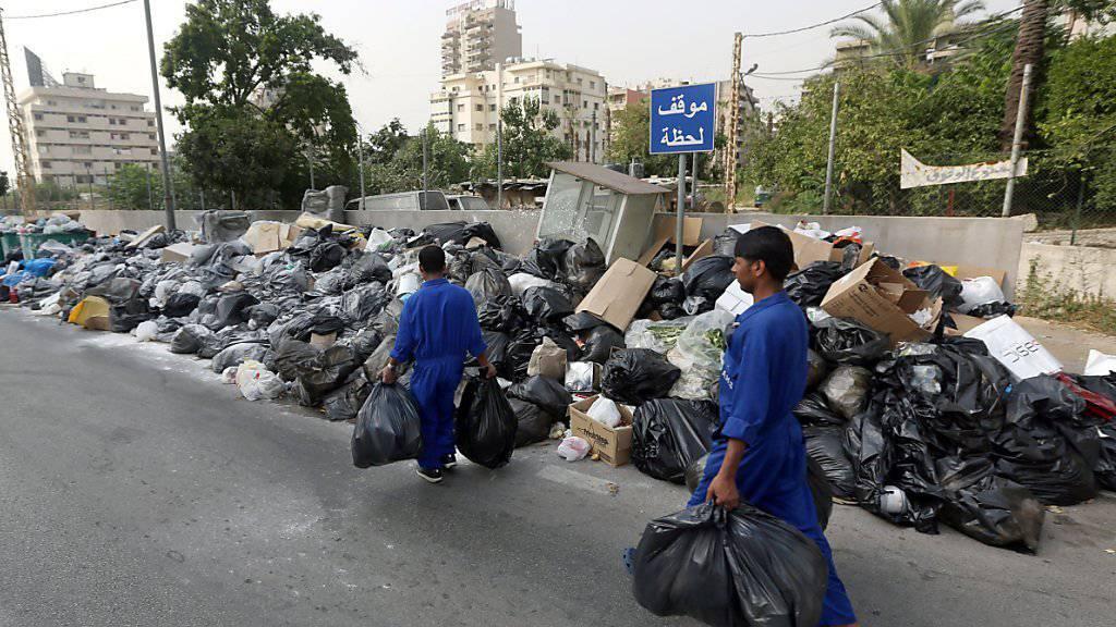 Libanons Regierung will das Abfallproblem durch Export lösen.
