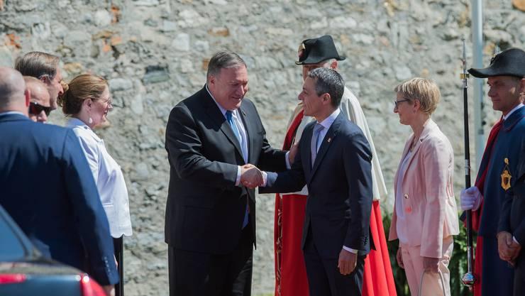 Die beiden Aussenminister trafen sich zu einem offiziellen Arbeitsbesuch im Castelgrande in Bellinzona.
