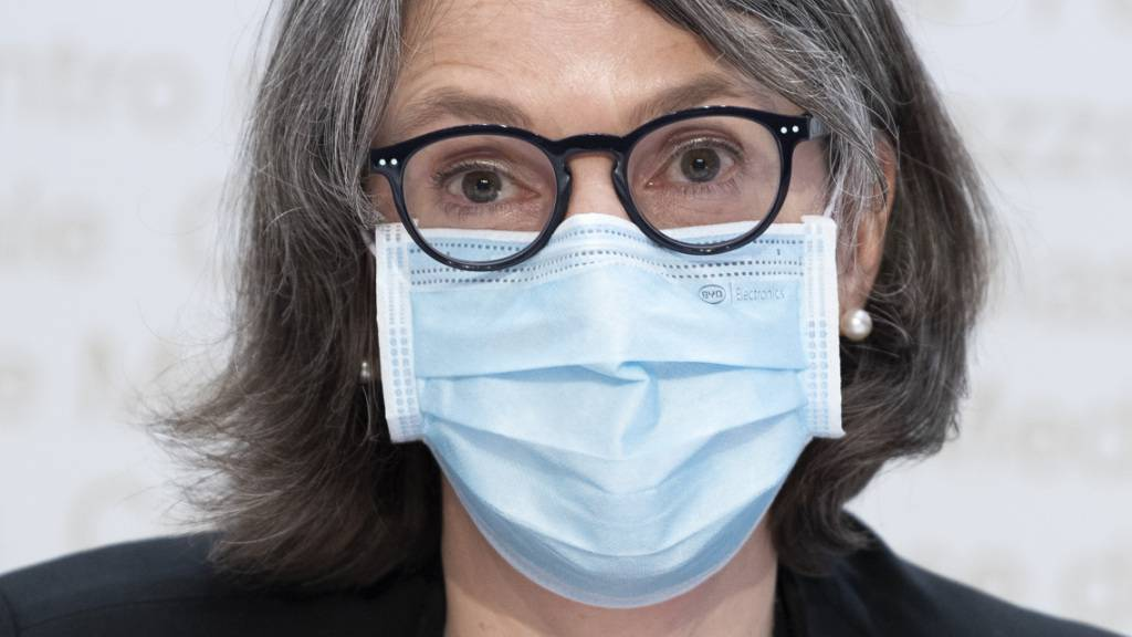 Anne Lévy, Direktorin des Bundesamts für Gesundheit (BAG), an einer Pressekonferenz im März in Bern. (Archivbild)