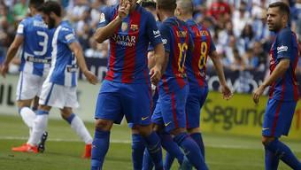 Luis Suarez jubelt nach seinem Tor in Leganes