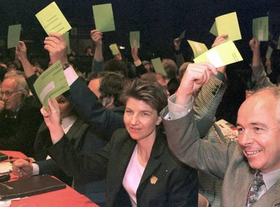 Von 1992 bis 1996 sitzt sie im Stadtrat von Brig-Glis. (Bild von 1999)