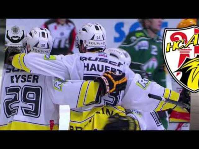 Alle Highlights und Tore von PO-Halbfinal-Spiel Numer drei zwischen dem EHC Olten und dem HC Ajoie
