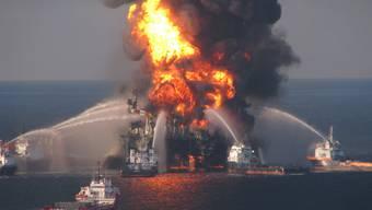 """Die Explosion der Bohrinsel """"Deepwater Horizon"""" hatte im April 2010 eine der schlimmsten Umweltkatastrophen der US-Geschichte ausgelöst (Archiv)"""
