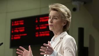 """""""Das Recht, um Asyl zu bitten, ist ein fundamentales Recht. Und es muss geachtet werden"""", sagte EU-Kommissionspräsidentin Ursula von der Leyen am Montag in Brüssel."""