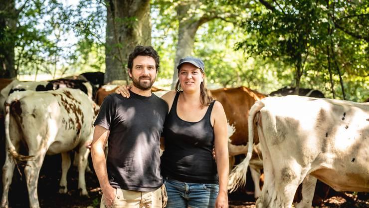 Oliver Rutz (36) und Franziska Kägi (34) bewirtschaften den Balsthaler Oberberg seit drei Monaten