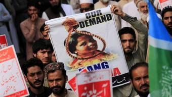 Die Islamistenpartei Tehreek-e-Labaik forderte bei Massenprotesten die Todesstrafe für Asia Bibi. (Archivbild)