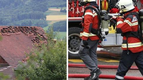 Dächer abgedeckt, Bäume entwurzelt, Keller unter Wasser - die Feuerwehr war gefordert. (Archivbild)