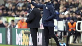 Alle Anweisungen von Pep Guardiola (Trainer Manchester City) halfen nichts - Liverpool kann Manchester City am Mittwoch wieder auf 7 Punkte davonziehen