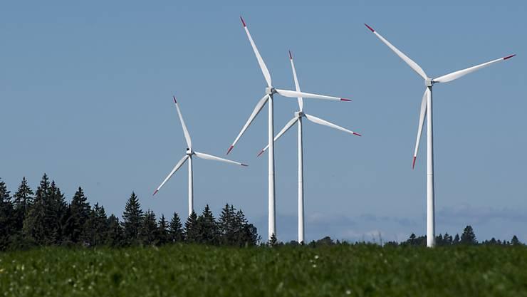 Der Kanton sieht im Gebiet «Chall» Potenzial für einen Windpark. (Symbolbild)