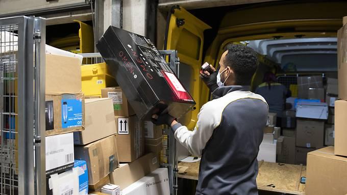 Neuer Rekord: Post stellte letztes Jahr 183 Millionen Pakete zu