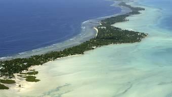 Kiribati ist vom ansteigenden Meeresspiegel bedroht (Archiv)