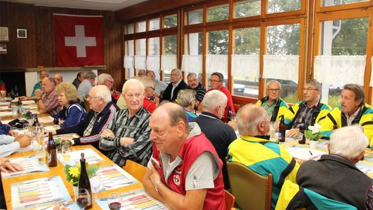 Die Schützenveteranen Solothurn-Lebern füllten an ihrer Generalversammlung die Schützenstube im Lauacher bis auf den letzten Platz.
