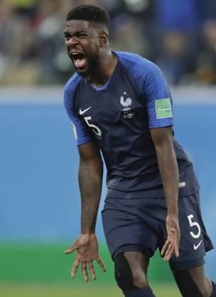 Der Innenverteidiger der Franzosen, Samuel Umtiti, avancierte mit seinem Tor zum Matchwinner für Frankreich.