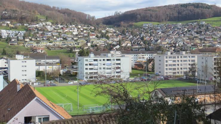 Kittler , das ist der Fussballplatz vom FC Frenkendorf, auch hier tote Hose