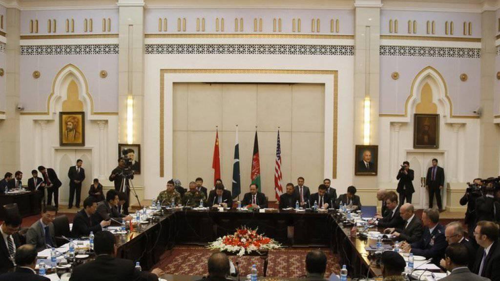 Blick in den Verhandlungssaal am Montag in Kabul.
