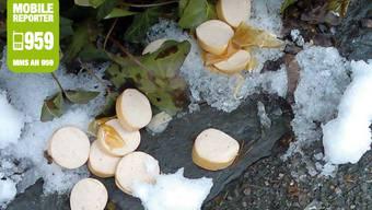 Giftköder: Wursträdli, die in Dietikon verstreut wurden