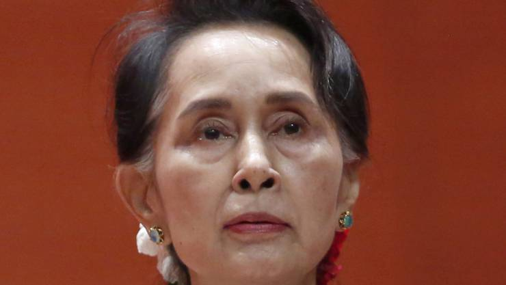 Ihr Ansehen hat mit der Rohingya-Krise schweren Schaden genommen: Friedensnobelpreisträgerin und Myanmars De-facto-Regierungschefin Aung San Suu Kyi. (Archivbild)