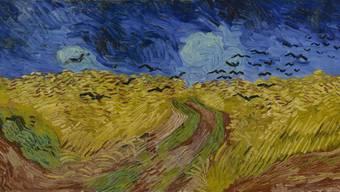 Ein Bild aus dem letzten Lebensjahr von Vincent van Gogh Weizenfeld mit Krähen von 1890.