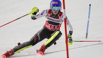 Mikaela Shiffrin könnte heute zum 50. Mal ein Weltcup-Rennen gewinnen