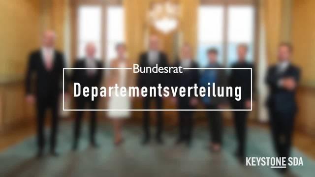 Die Departementsverteilung des Bundesrats