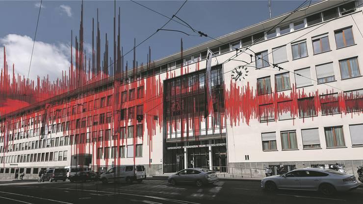 Der Spiegelhof ist eine Lifeline-Gebäude und wird erdbebensicher.